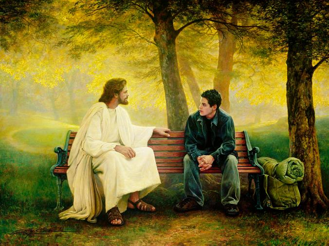 Jesus on Park Bench