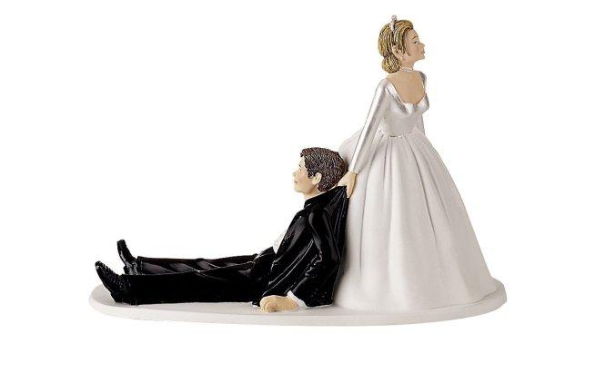 Bride Drags Groom