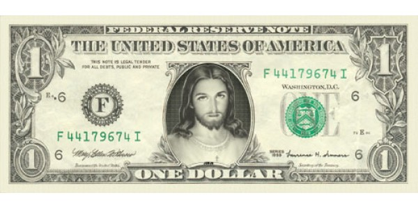 Jesus Dollar Bill