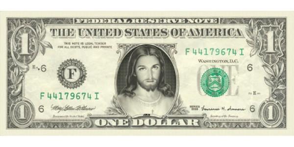 Jesus Dollar Bill
