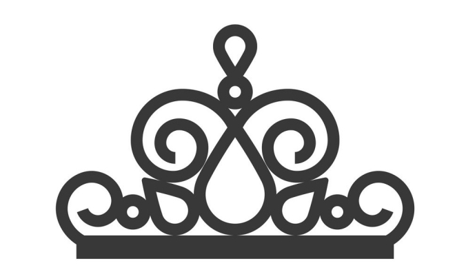 beauty pageant crown, jewelry icon, glyph style