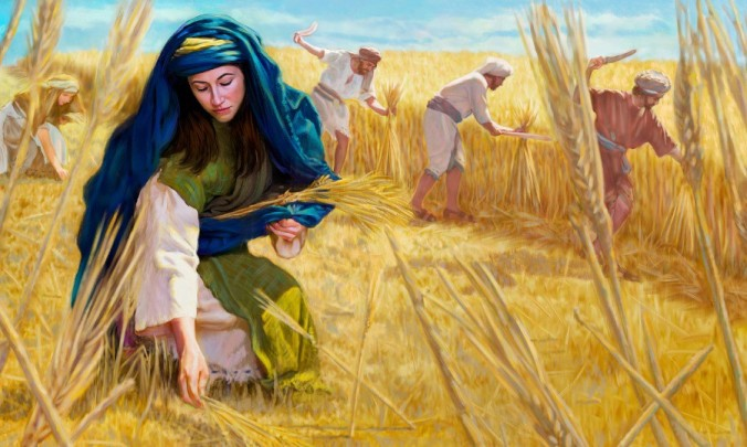 Ruth Gathers Grain